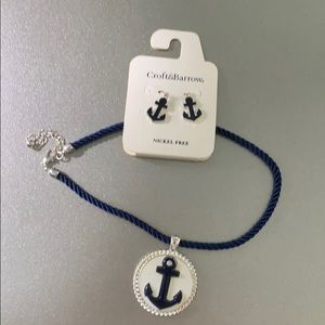 Nautical necklace and earring set.